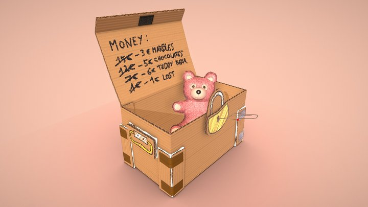 Andy's Treasure Chest 3D Model