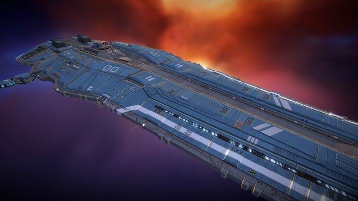Hiigaran Battle Cruiser 3D Model