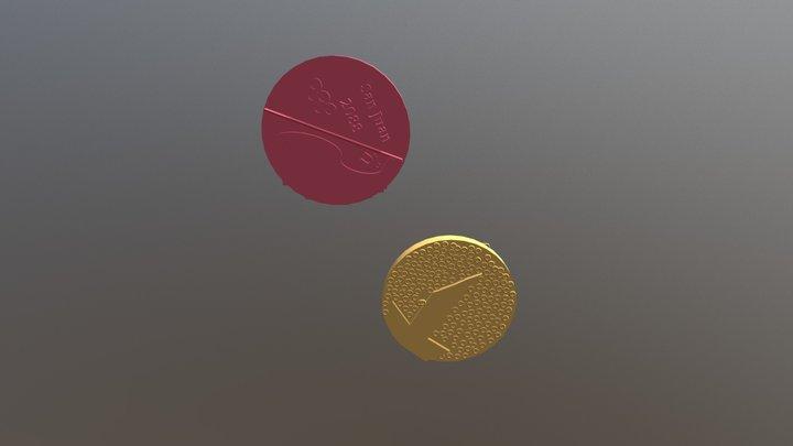 Olympic medal 3D Model