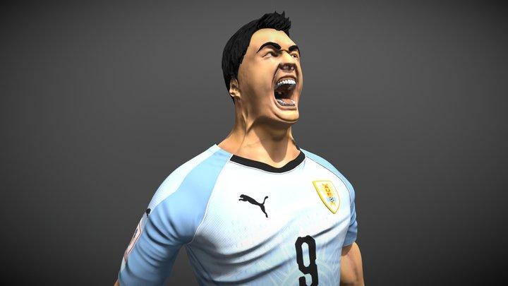Luis Suarez 3D Model