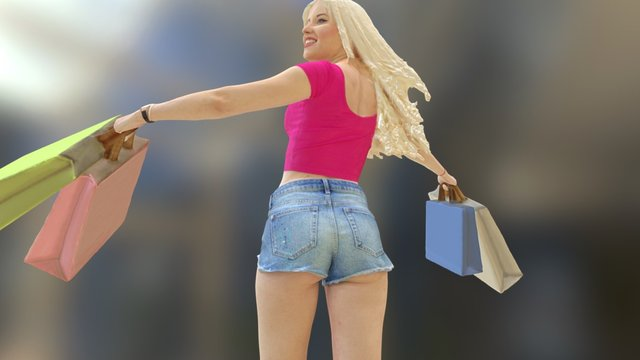 Shopaholic 3D Model