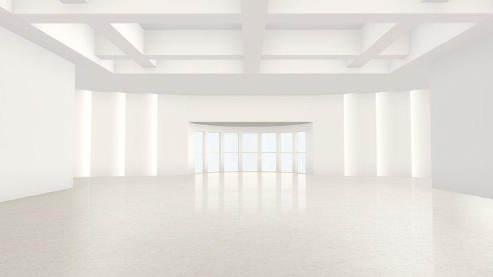 VR Moody Lighting Art Gallery Scene 06 3D Model