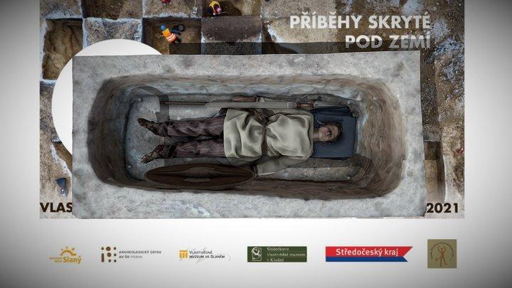 Rekonstrukce laténského pohřbu 3D Model