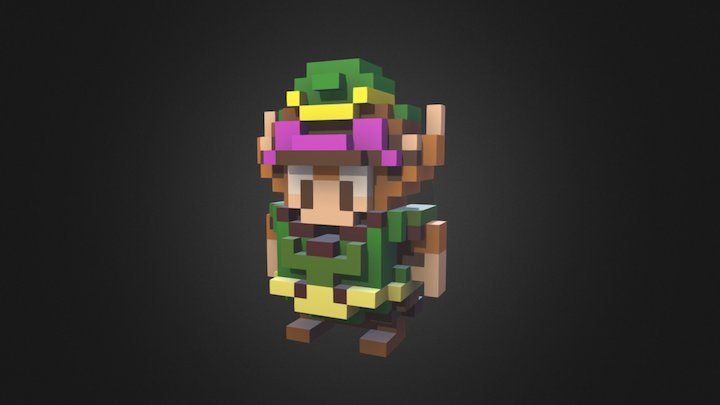 A Link to the Past in voxels 3D Model