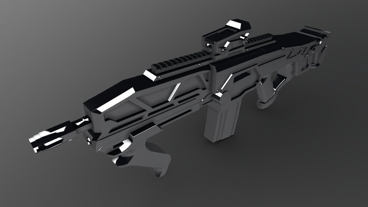 Automatic Rifle - GameRes, 1p rifle 3D Model