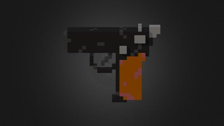 Old Makarov Pistol 3D Model