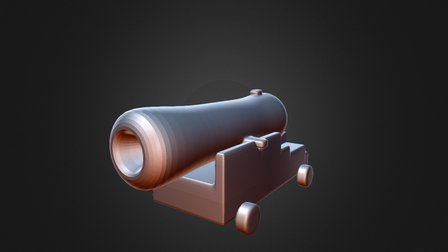Play Pretend Cannon 3D Model
