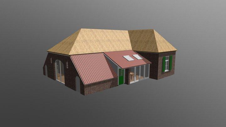 Woonboerderij met interieur 3D Model