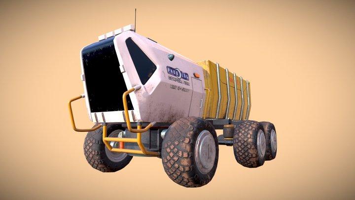 Truck Mid (no optimize) 3D Model