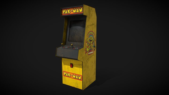 Arcade Game Machine - Pacman 3D Model