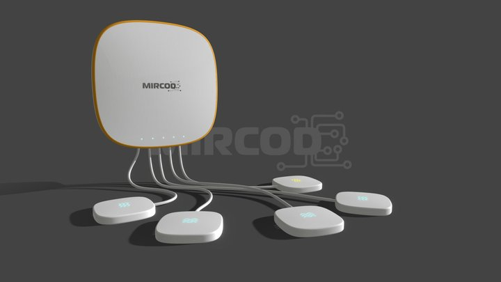 Mircod - IoT - Water Leak Detector 3D Model