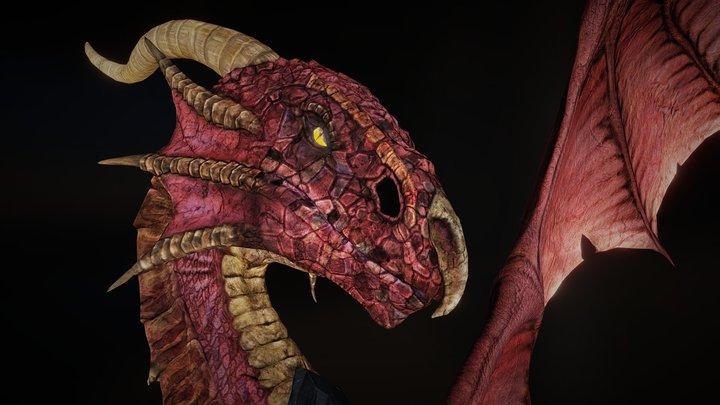 High Quality Dragon 3D Model