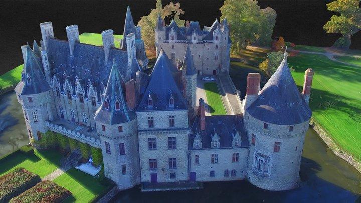 Château de la Bretesche HQ, France 3D Model