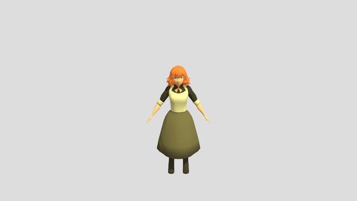 Female Waitress 3D Model