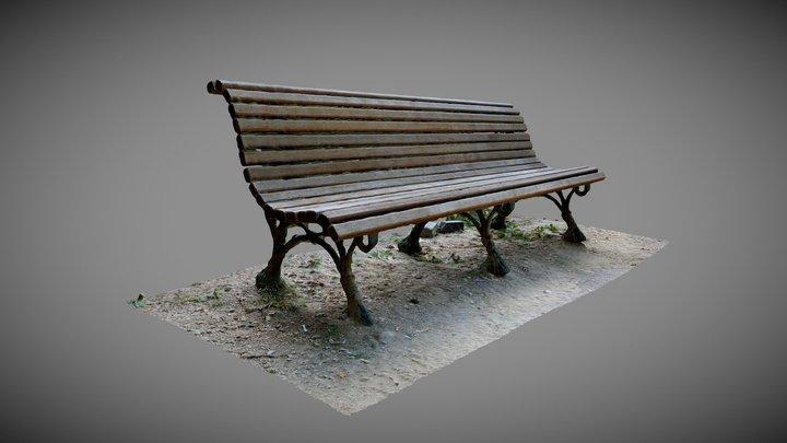Bench in park De Meeus 3D Model