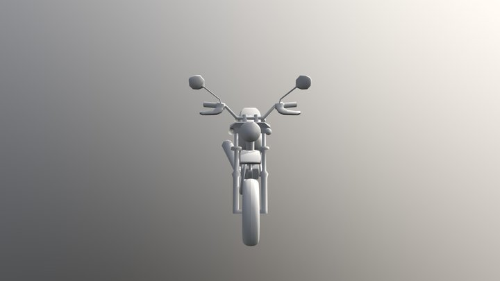 Simple Honda Ape 100D 3D Model