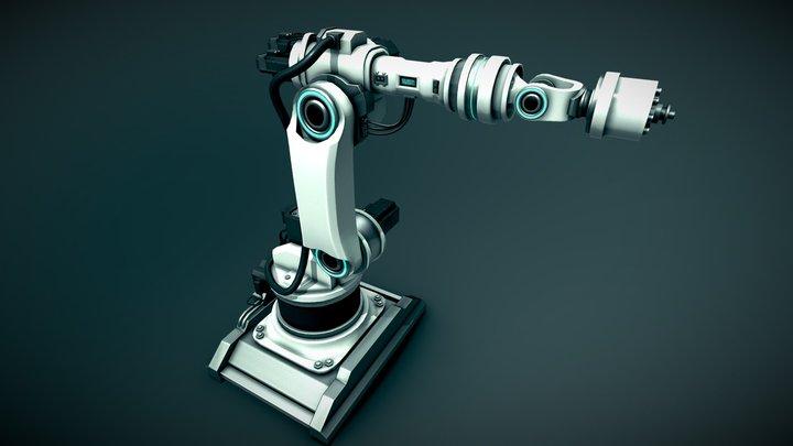 ROBOTIC ARM - Futuristic Car Factory 3D Model