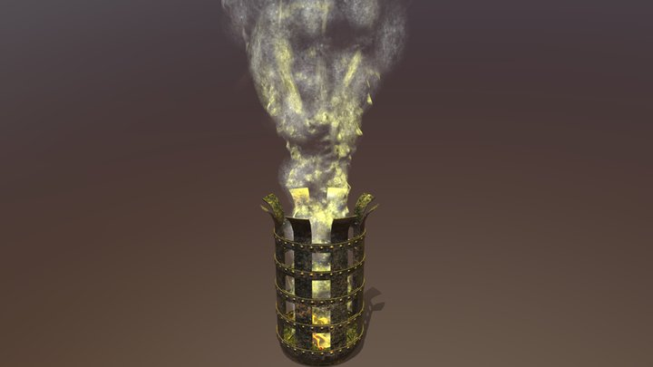 Firepit with Smoke 3D Model