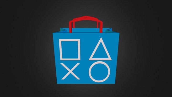 PlayStation Store Logo 3D Model