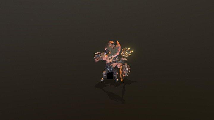 Eagle Warrior 3D Model