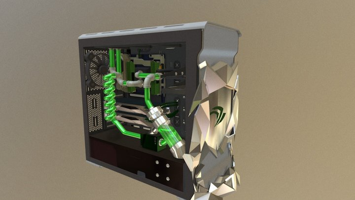 Nvidia Tower Case Contest 3D Model