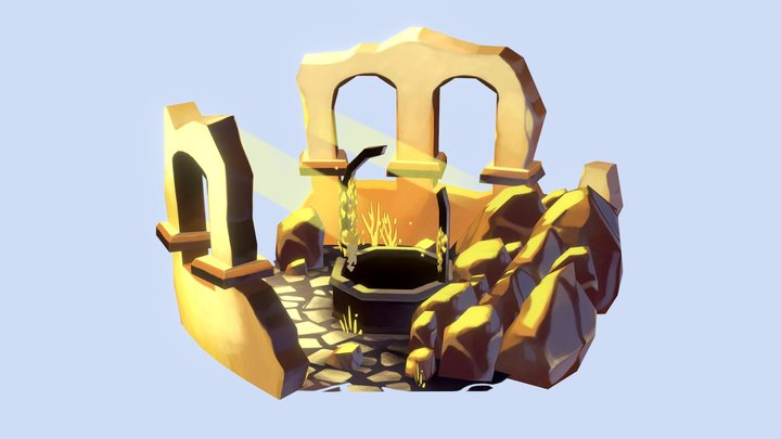 Well in ruins 3D Model
