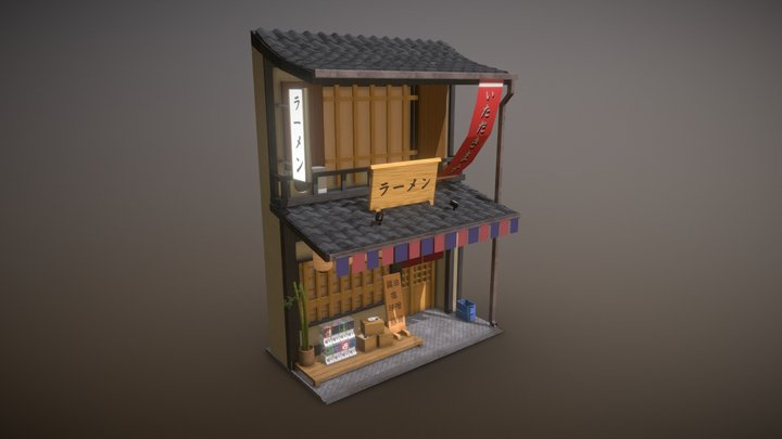 Ramen Storefront 3D Model