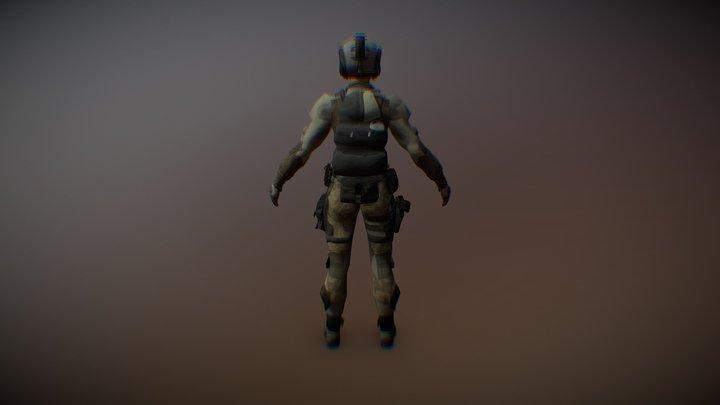 Warface  Rifleman 3D Model