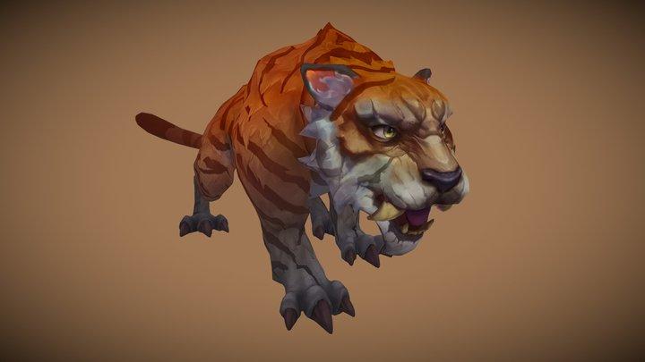 Stylized Tiger 3D Model