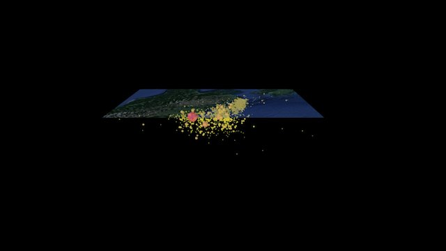 New Zealand Earthquake and Aftershocks 3D Model