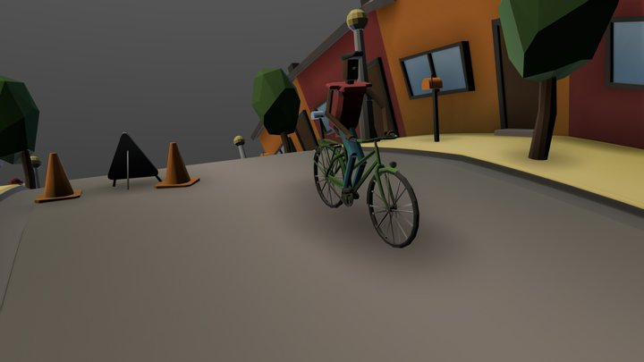 The Cyclist | Low Poly model 3D Model