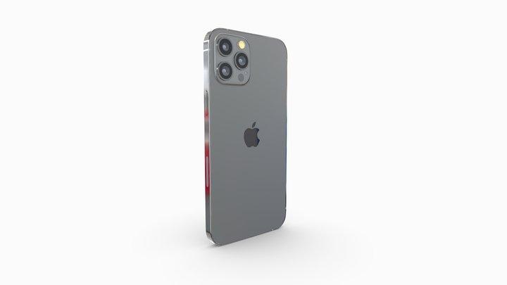Iphone 12 pro max graphite 3D Model