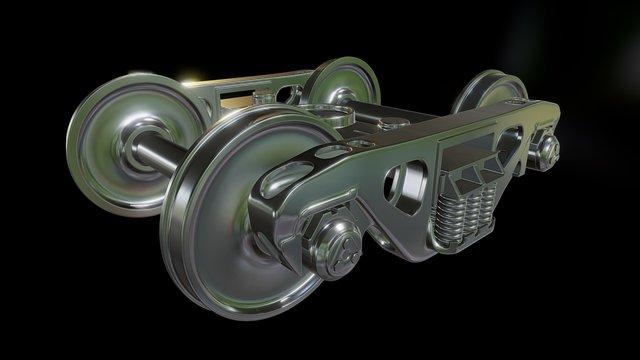 Railroad Trucks 3D Model