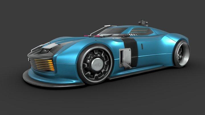 RAY - retro future cyber car 3D Model