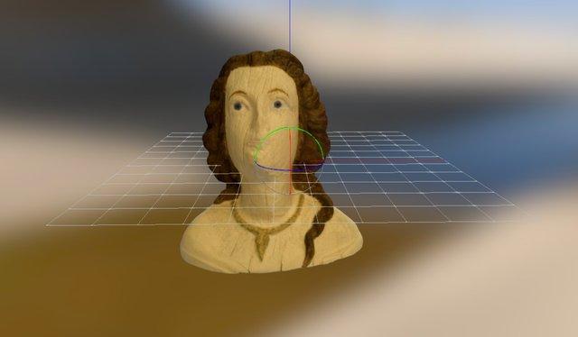 Galjonsfiguren från Åland Sjofartsmuseet 3D Model