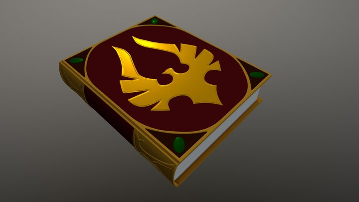 Blood elf book 3D Model