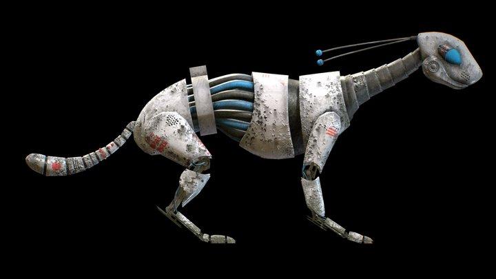 Robbo Doggo, a Post-Apocalyptic Robot Pet 3D Model