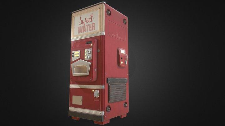 Retro Futuristic Soda Machine 3D Model