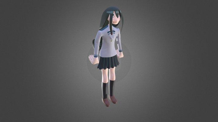 Tsuyu School Uniform My Hero Academia sculpt 3D Model