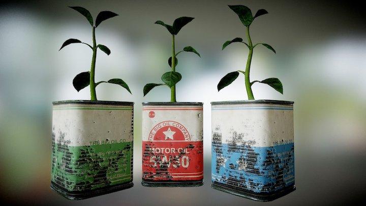 Plant Pot 5 3D Model