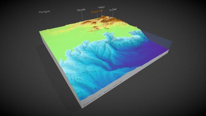 Autour de la Grotte Cosquer, il y a 20.000 ans 3D Model