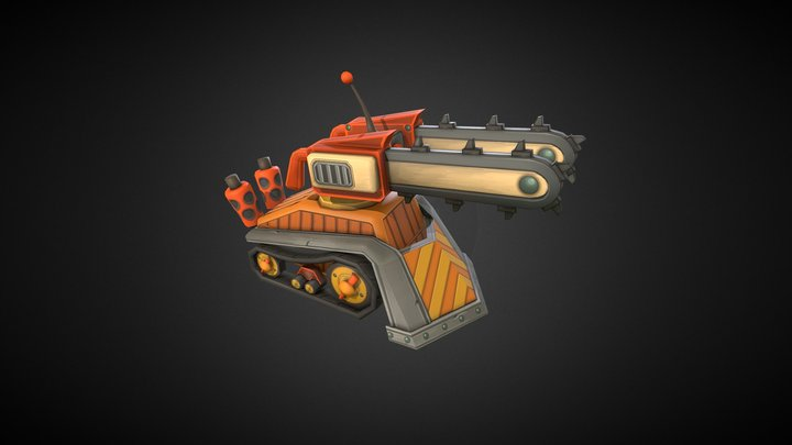 Chain Saw Tank 3D Model