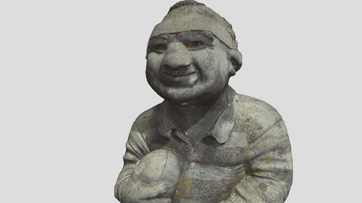 ornamental garden casting - rugby player 3D Model