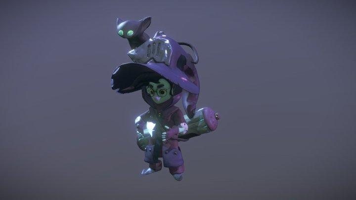 Little Wizzard 3D Model
