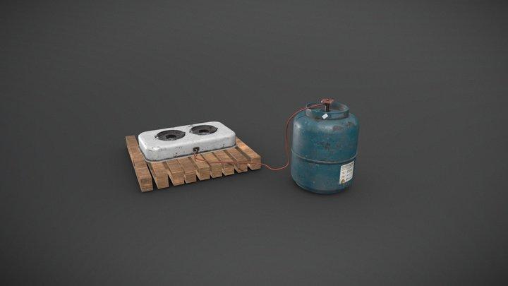 Mini Gas Cooker 3D Model