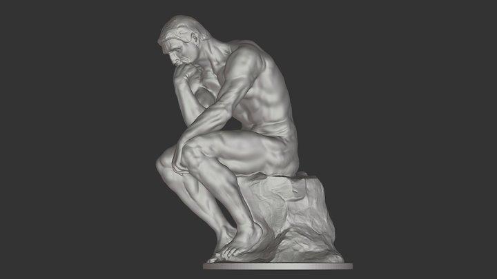 The Thinker, Auguste Rodin 3D Model