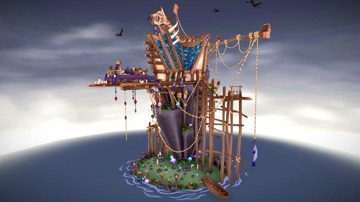 Home of an Exiled Seeress 3D Model