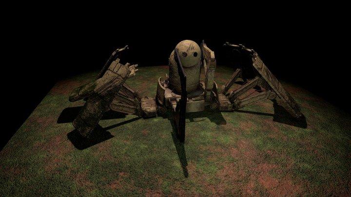 Unused concept Nier: Automata 3D Model