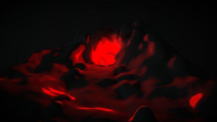 #SculptJanuary18 DAY 18 Cave 3D Model