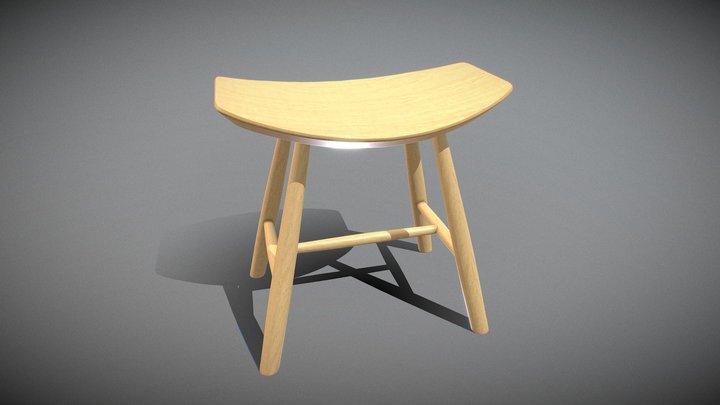 Johansson J63 Stool WoodVaneer 3D Model